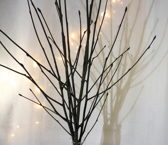 Black Tree Branches Black Branch Vase Filler Modern Simple Etsy