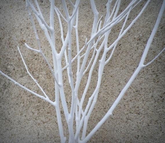 Wedding Centerpiece 6 White Tree Branches Decorative Etsy