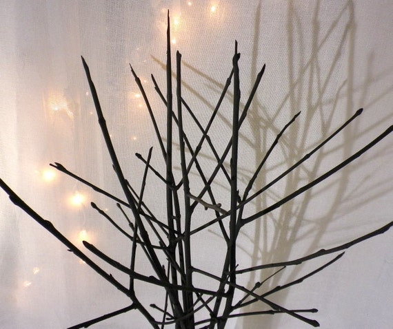 Black Branches Vase Filler Contemporary Home Decor Simple Etsy