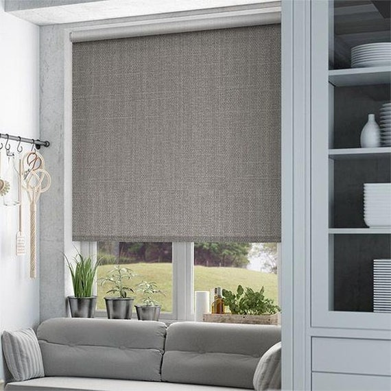 New Panama natural textured regular shading custom made window roller blind available in 8 colors