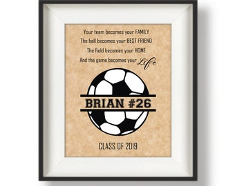 Soccer Gifts For Boys Personalized Soccer Wall Art Boys Etsy