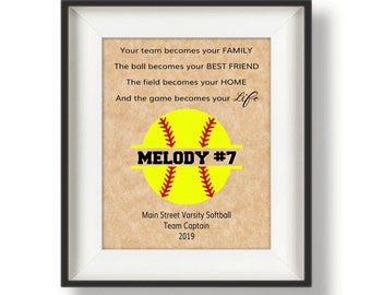 Softball senior gift | Etsy