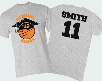 Personalized Senior Mom Basketball Shirt, Class of 2022, Senior Basketball Mom Shirt, Basketball Senior Night, Basketball Mom Tees