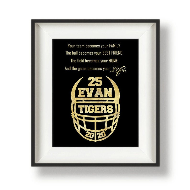 Football Senior Night  Football Player Gifts  Personalized image 0