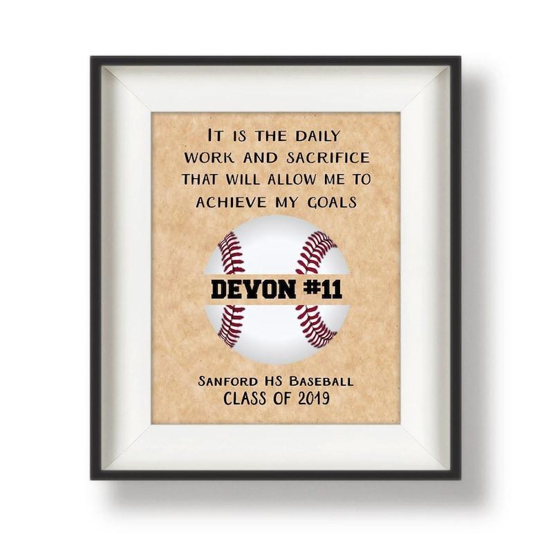 Baseball Senior Night Gift  Baseball Senior Gift  Baseball image 0