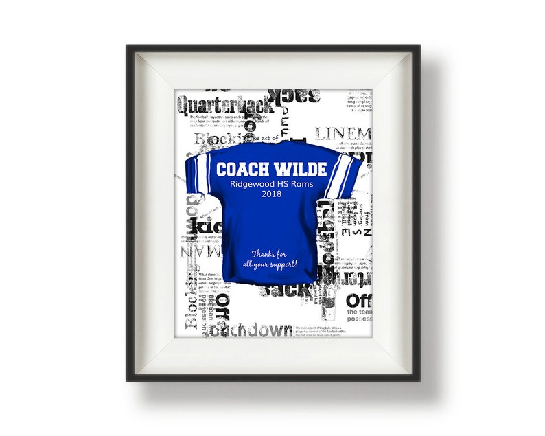 Personalized Football Print  Football Gifts for Players  image 0