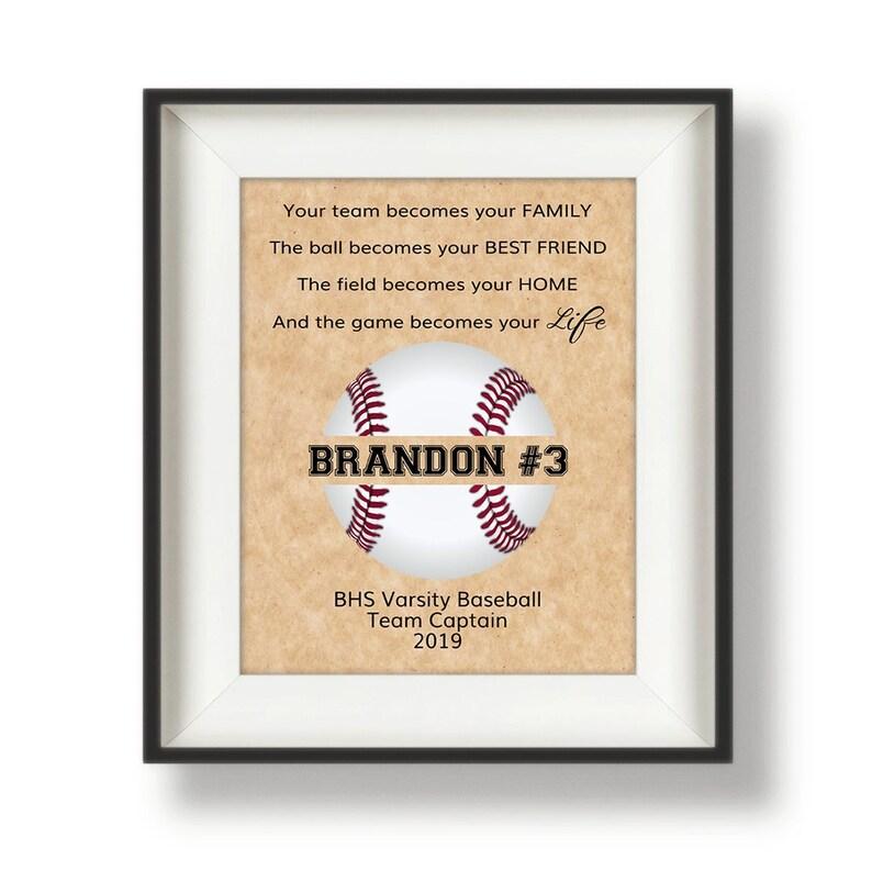 Baseball Senior Gift  Personalized Baseball Gifts for Team  image 0