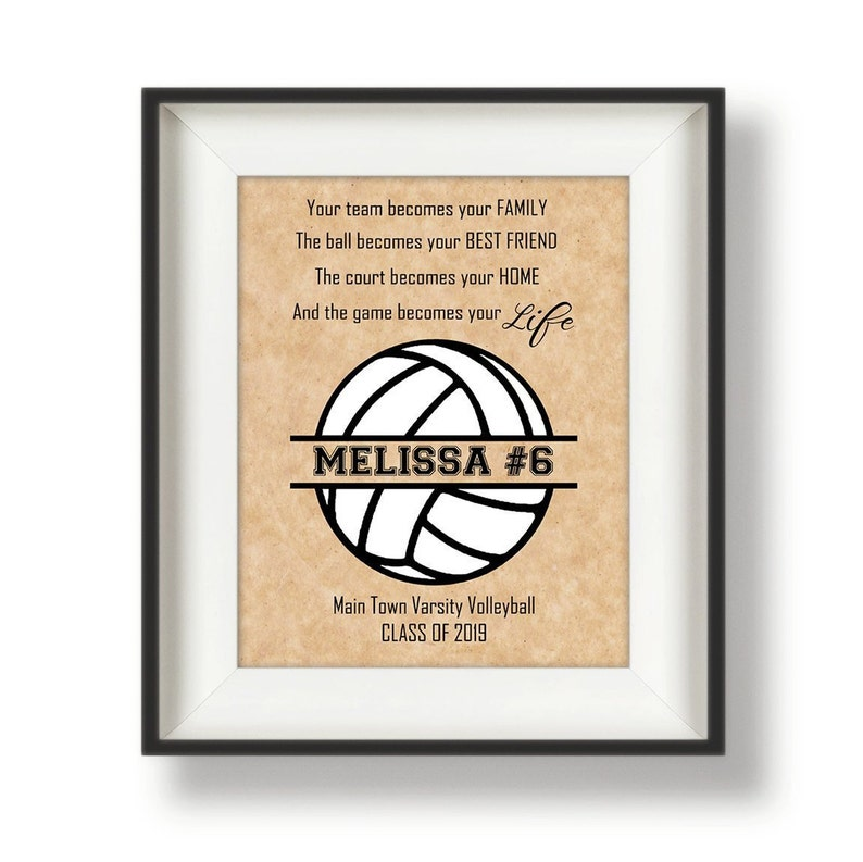Volleyball Senior Gift  Personalized Volleyball Gifts for image 0
