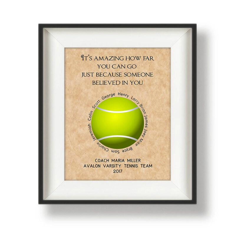Tennis Coach Gift Ideas  Personalized Gifts for Coaches  image 0