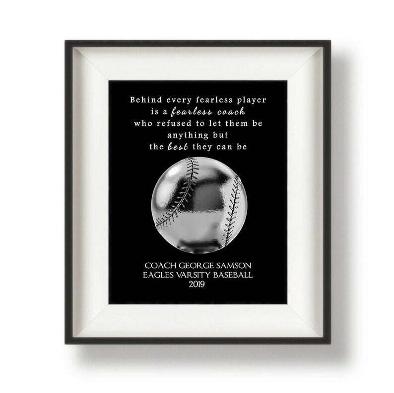 Baseball Coach Gift Ideas  Baseball Coach Signs  Baseball image 0