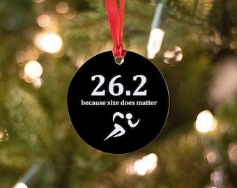 Runner Christmas Ornament - Running Ornament - Ironman Triathlon Ornament -  Runner Gifts - Running Gifts - Gift for a Runner - Marathon