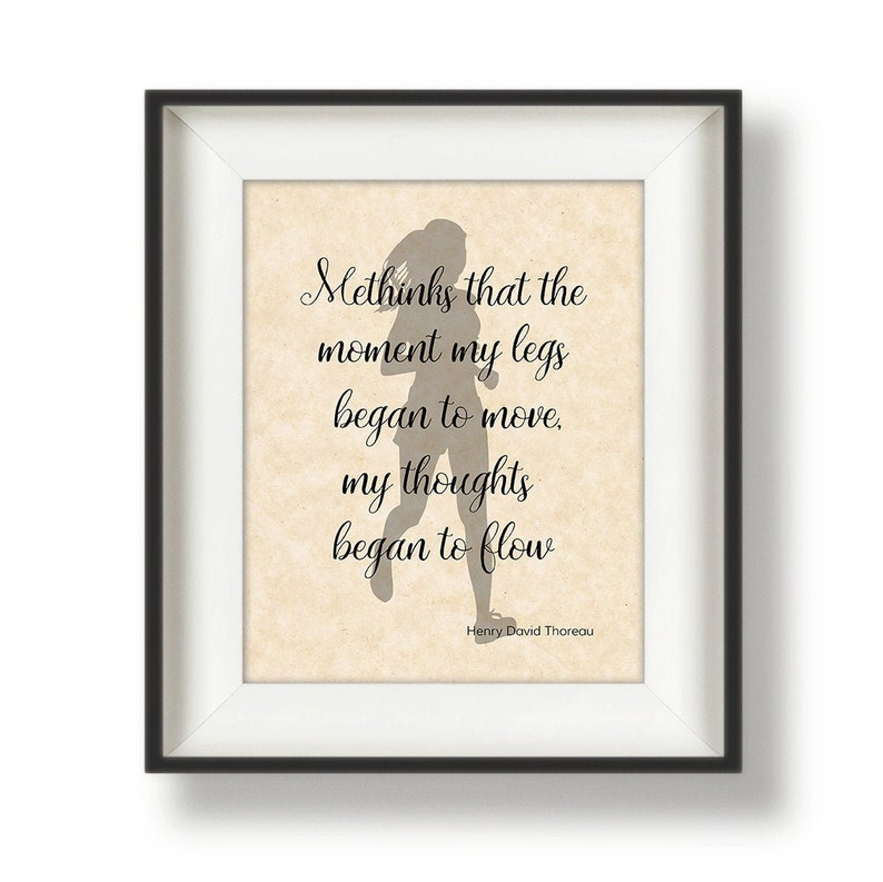 Runner Wall Print  Gifts for Runners Women  Mothers Day image 0