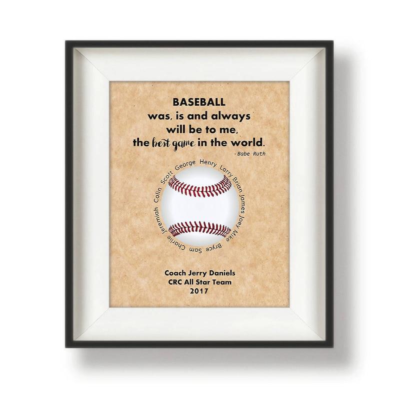 Baseball Coach Gift Ideas  Custom  Baseball Coach  image 0