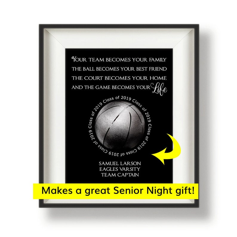 Basketball Senior Night  Basketball Coach Gift  Gifts for image 0