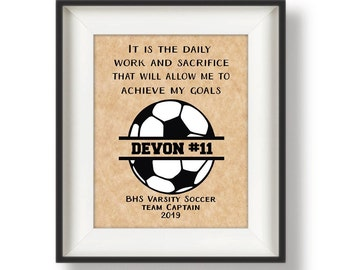 Soccer Senior Night Gifts - Senior Soccer Gift - Soccer Team Gifts - Personalized Soccer Gifts - Soccer Print - Monogram - Daily Work