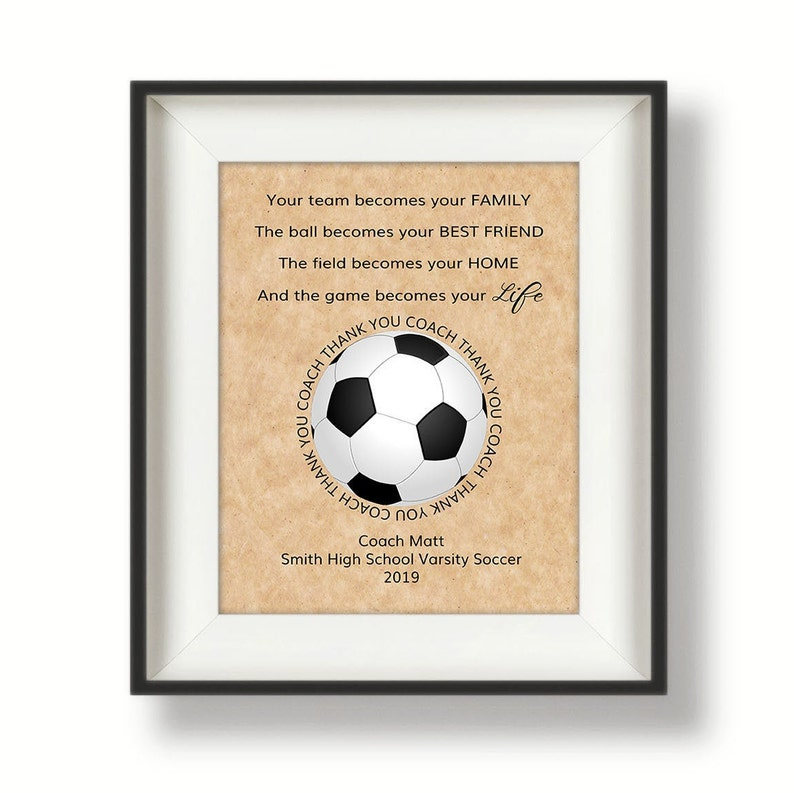 Soccer Coach Gift  Gifts for Soccer Coach  Soccer Coach image 0