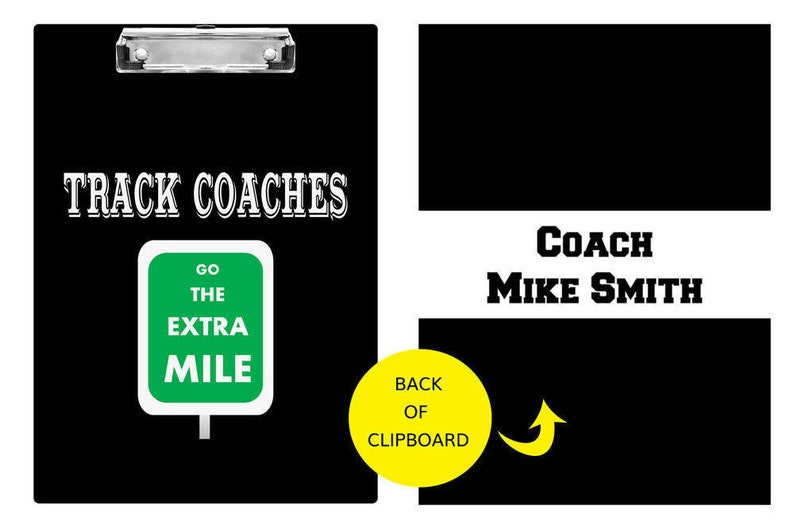 Track Coach Gifts  Custom Coach Clipboard  Personalized image 0