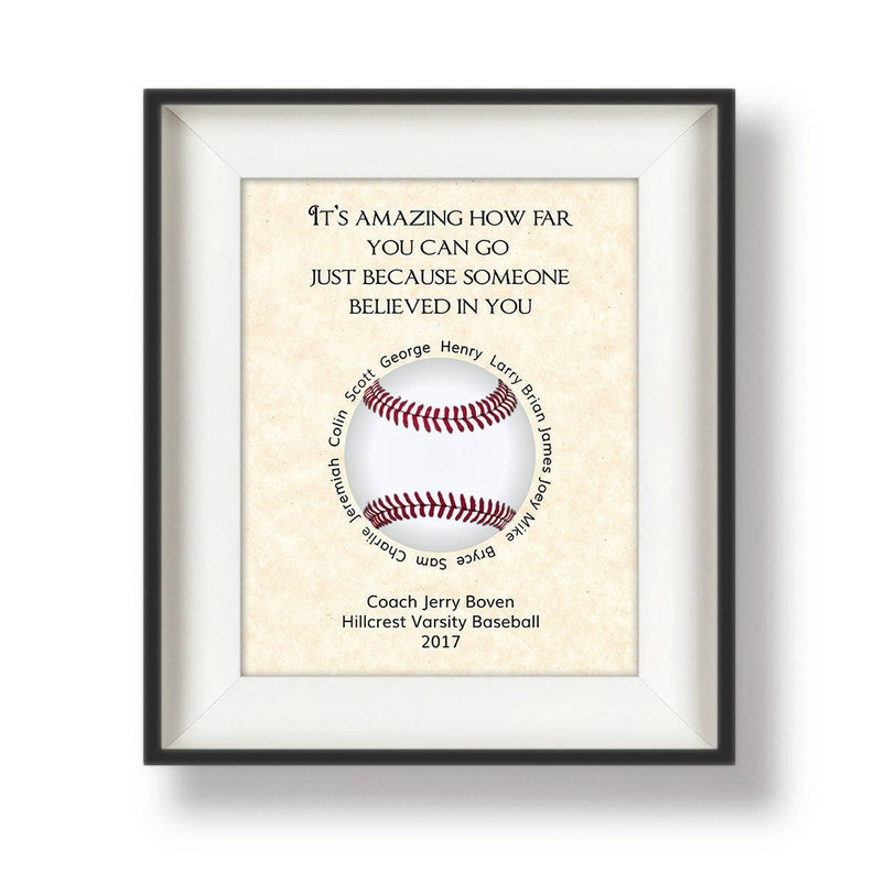 Baseball Coach Gifts  Personalized  Coach Gifts  Baseball image 0