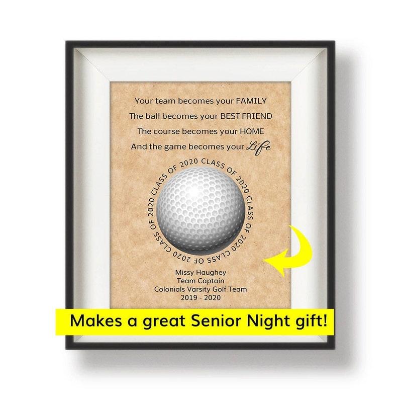 Golf Senior Night Gift  Golf Team Gifts  Golf Team Captain image 0