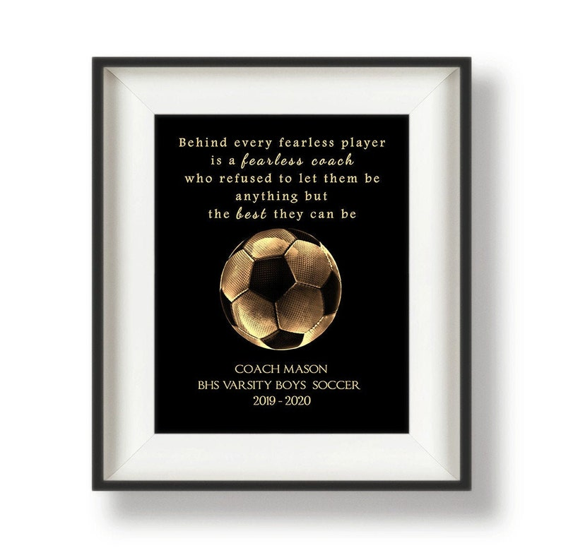 Soccer Coach Thank You Gift  Coach Gift Soccer  Coach Soccer image 0