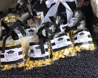 Graduation Favor Popcorn Bags