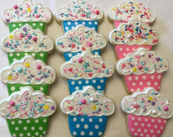 Colorful Cupcake Cookies