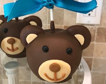 Teddy Bear Chocolate Covered Apples