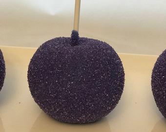 Purple Sprinkle Chocolate Covered Apples