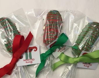 Christmas Red and Green Chocolate Covered Twinkies