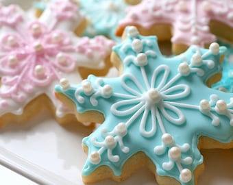 Snowflake Cookies Etsy