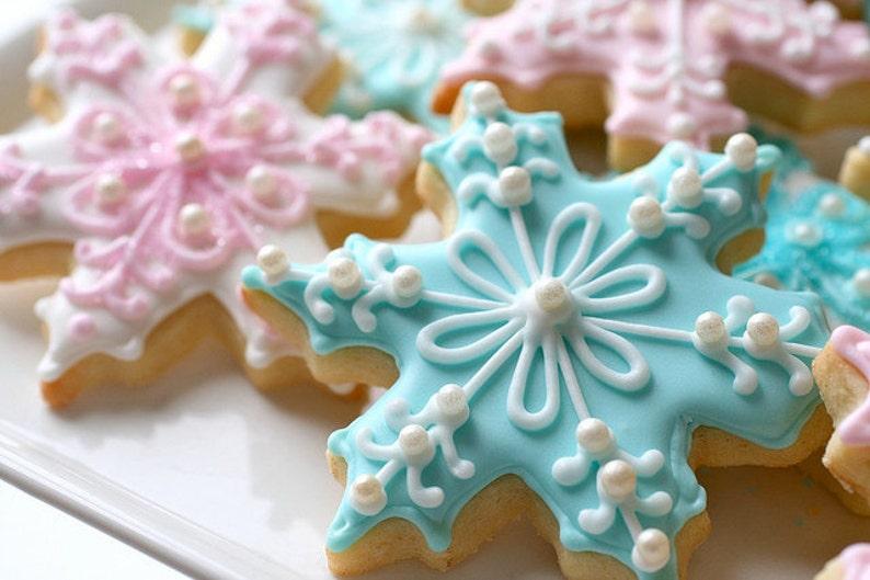 Snowflake Sugar Cookies Winter Wonderland Theme Frozen Cookies