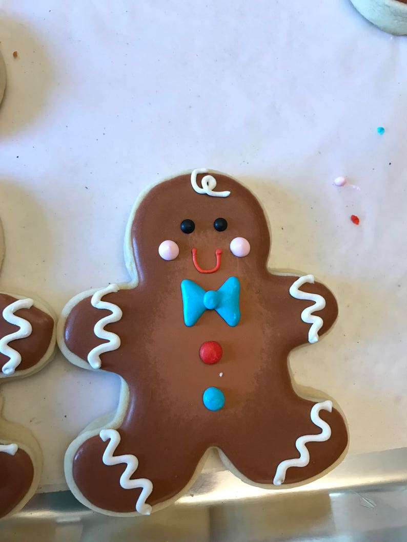 Gingerbread Man Cookies Ginger Bread Holiday Cookies
