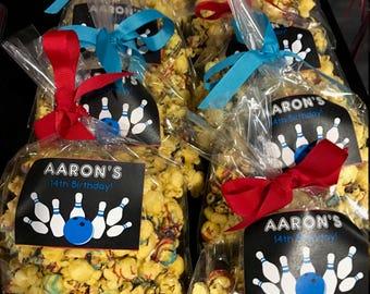 Boys Birthday Party Popcorn Bags