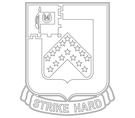 Us Army Unit Crest 16th Cavalry Regiment Vector Files Dxf Eps