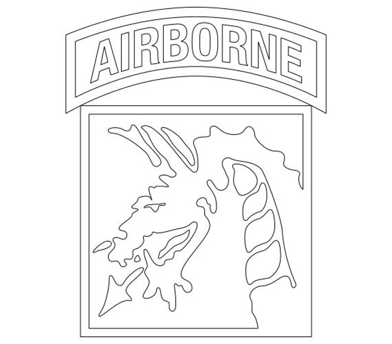 Us Army Xviii Airborne Corps Patch Vector Files Dxf Eps Svg
