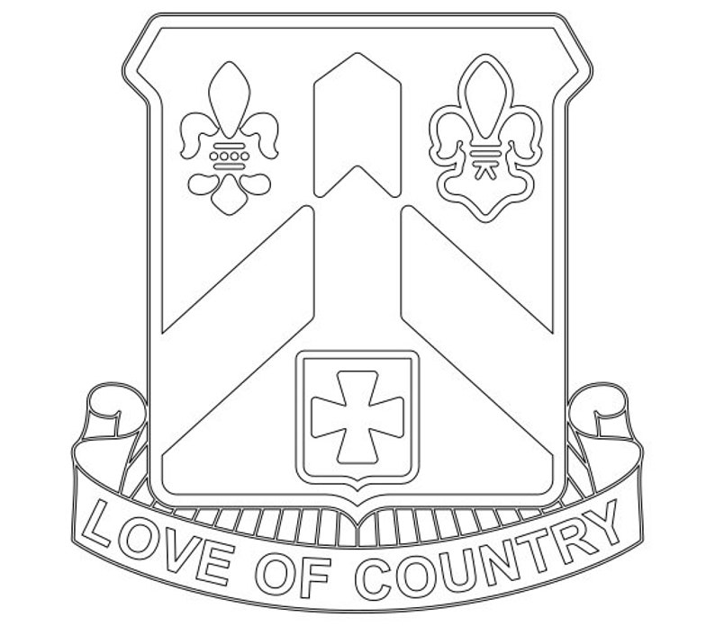 Us Army Unit Crest 58th Infantry Regiment Vector Files Dxf