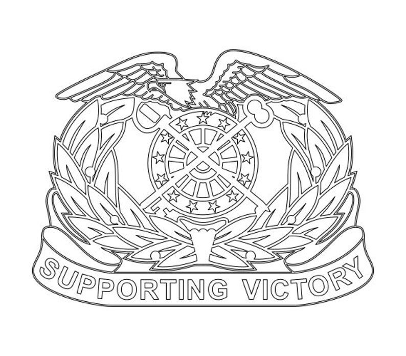 Us Army Quartermaster Regimental Crest Vector Files Dxf Eps