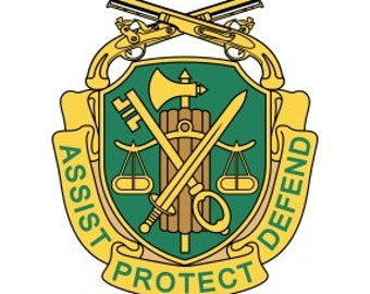 US Army Military Police Regimental Crest Vector Files, dxf eps svg ai crv
