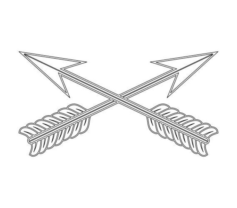 Us Army Special Forces Branch Insignia Vector Files Dxf Eps