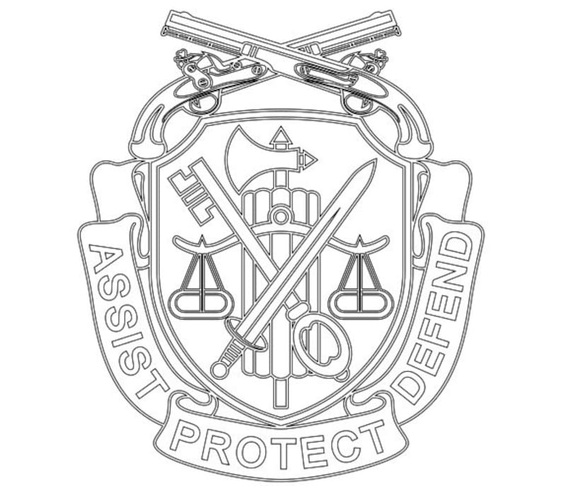 Us Army Military Police Regimental Crest Vector Files Dxf Eps