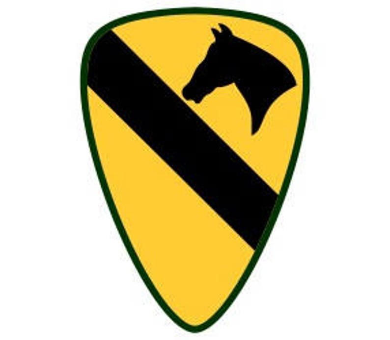 US Army 1st Cavalry Division Patch Vector Files dxf eps svg  ddc8777d1ce