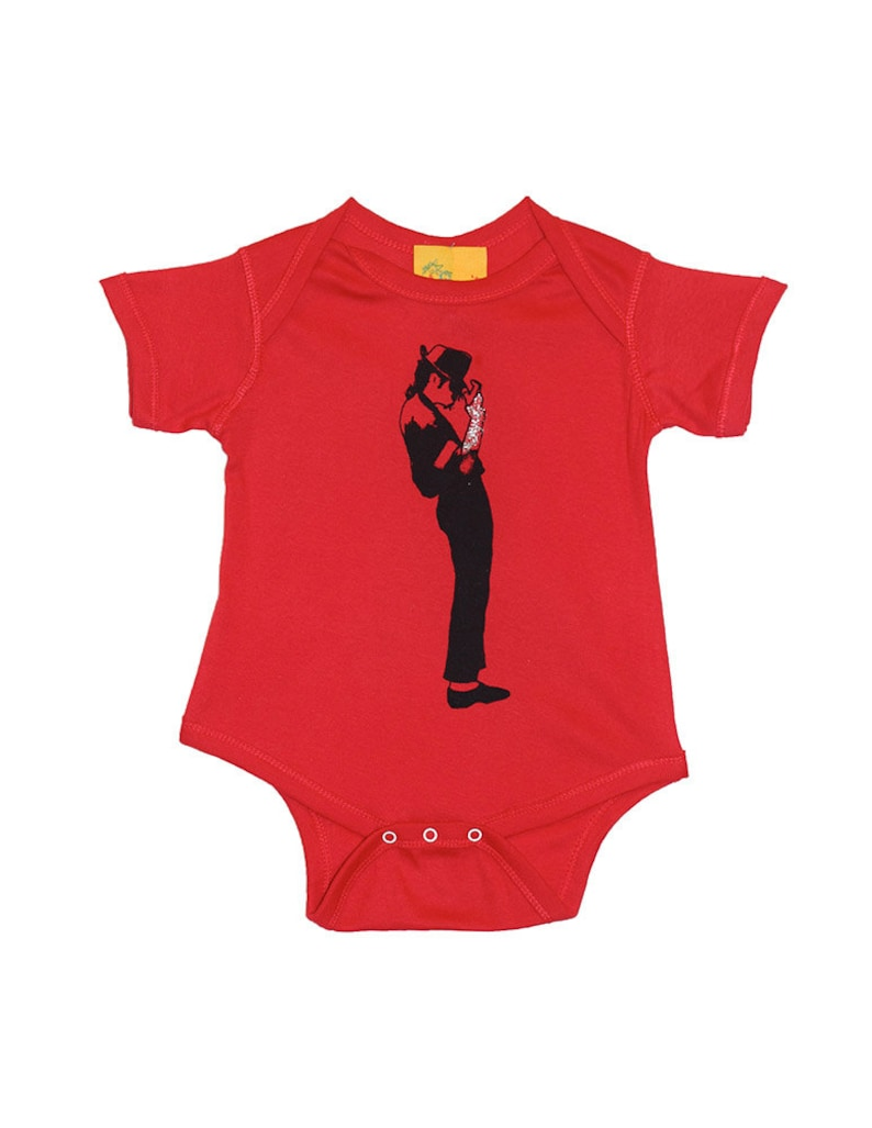 Michael Jackson onepiece bodysuit creeper  Rocker baby shower gift infant unisex children clothing