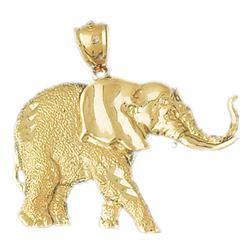 14K or éléphant le pendentif peut être gravé texte pour le éléphant rendre personnalisé 5549b3