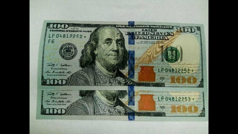 hundred dollar bill serial number lookup