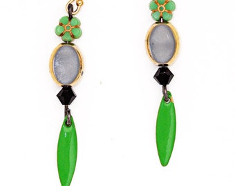 "Earrings ""Peace and Green"""