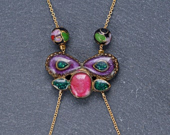 "Long Necklace ""Metamorphosis"""