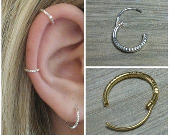9708b9862f44 Hoop earrings, Sterling silver hoop, Small hoops, Silver hoops, Tiny hoops, Small  silver hoops, Gold cartilage hoop, Delicate hoops, Hoops