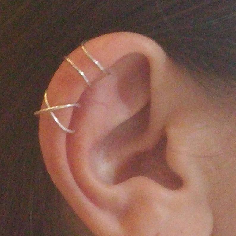 Ear cuff set Cartilage ring Ear cuff no piercing Cartilage image 0