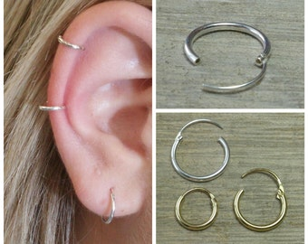 Cartilage hoop, Small hoop earrings, Gold hoop earrings, Silver hoop earrings, Gold hoops, Hoop earrings silver, Hoop earrings gold