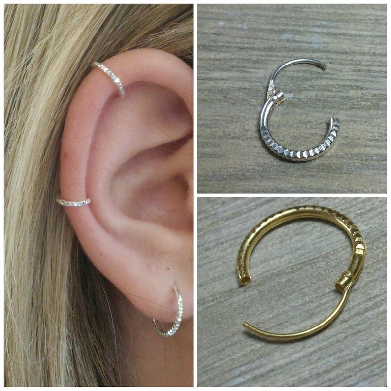 Hoop earrings Sterling silver hoop Small hoops Silver image 0